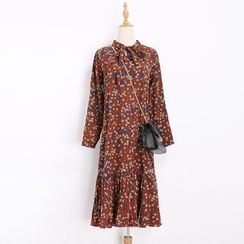 Katie Bloom - Floral Print Long Sleeve Dress