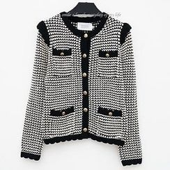 Polaris - Long Sleeved Buttoned Knit Jacket