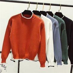 Honey House - Contrast Trim Sweater