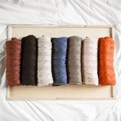 TOMONARI - Colored Cable-Knit Scarf