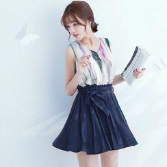 Tokyo Fashion - Print Sleeveless Dress