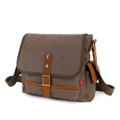 AUGUR - Buckled Canvas Shoulder Bag