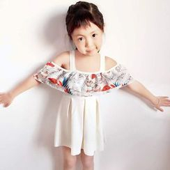 Little Dolphin - Kids Print Ruffle Swimdress