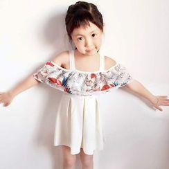 Little Dolphin - 童裝印花荷葉泳裙