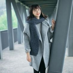 Forest Girl - Batwing-Sleeve Open Front Coat