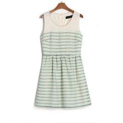 SUYISODA - Sleeveless Striped Dress