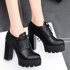 佳美 - 高跟牛津鞋