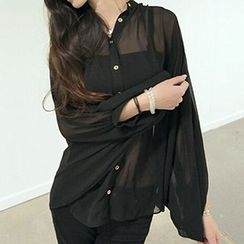Yohana - 蝙蝠袖雪紡襯衫