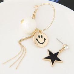 Bling Thing - Smiley & Star Non-Matching Earrings