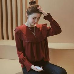 Munai - Pleated Chiffon Blouse