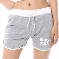 Crytelle - Lettering Sweat Shorts