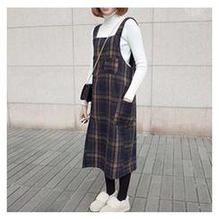 MATO - Plaid Pinafore Dress