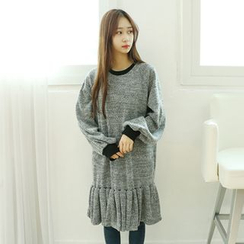 Dodostyle - Ruffle-Hem T-Shirt Dress