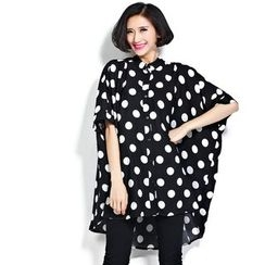 Flore - Dotted Oversized Shirt