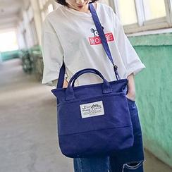 I.O.U - Top Handle Canvas Crossbody Bag