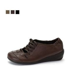 MODELSIS - Genuine Leather Oxford Flats