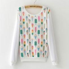 Maymaylu Dreams - 彩色冰淇淋长袖T恤上衣