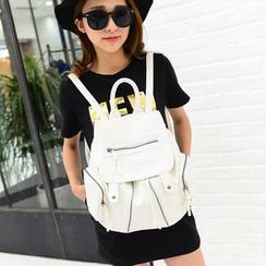 Seok - 人造皮袋盖背包