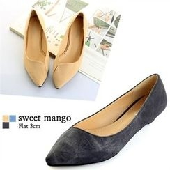 SWEET MANGO - Pointy-Toe Denim Wedges