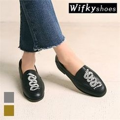 Wifky - Snake Appliqué Loafers