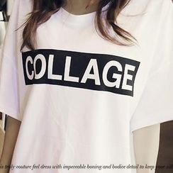 NANING9 - Short-Sleeve Print T-Shirt