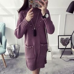 Qimi - Embellished Knit Dress