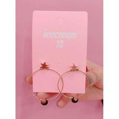 icecream12 - Star Moon Earrings