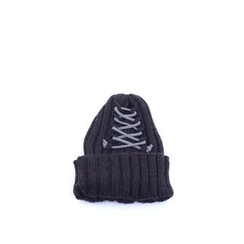 Ohkkage - Lace-Up Rib-Knit Beanie