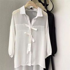 AIGIL - Long-Sleeve V-Neck Blouse