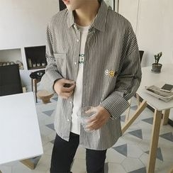 Troopers - Embroidered Striped Shirt