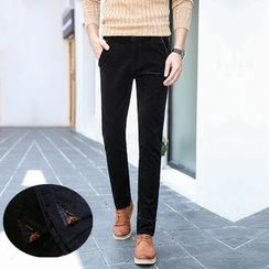 Denimic - Corduroy Straight Fit Pants