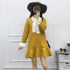 Be Bonita - Tie-Neck A-Line Dress