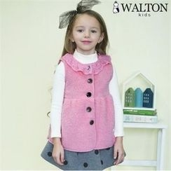 WALTON kids - Girls Lace-Collar A-Line Vest