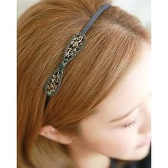 Miss21 Korea - Openwork Bow Slim Hair Band