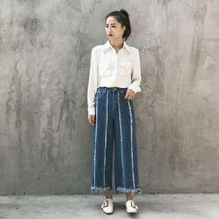 GAGAI - Wide-Leg Jeans