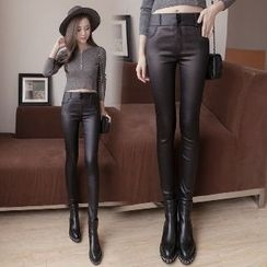 Splashmix - Faux-Leather Skinny Pants