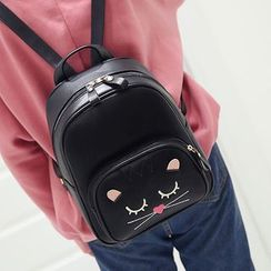 Little Days - Faux Leather Cat Backpack