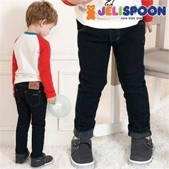 JELISPOON - Boys Washed Straight-Cut Jeans