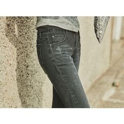 UUZONE - Distressed Skinny Jeans