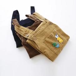Bonbon - Applique Corduroy Jumper Skirt
