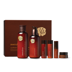 Innisfree - Cauliflower Mushroom Vital Sin Care Set: Lotion 200 ml + Lotion 160 ml + Skin 25ml + Lotion 25ml + Serum 5ml + Cream 10ml