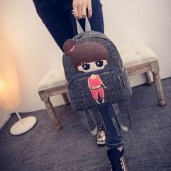 Seok - Girl Appliqué Backpack