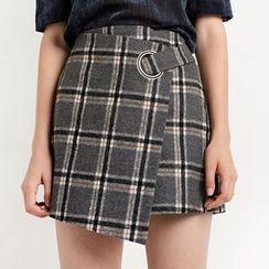 Obel - Plaid Mini Wrap Skirt