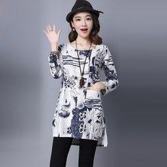Salisha - Printed Long-Sleeve Tunic