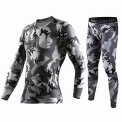 ORCA - Set: Camouflage Print Quick Dry Fitness Top + Leggings