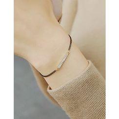 soo n soo - Rhinestone Chain Bracelet