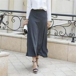 ode' - Band-Waist Maxi Skirt