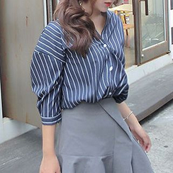 YOSH - Striped Batwing Blouse