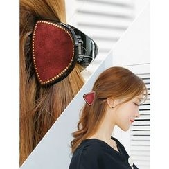 soo n soo - Faux-Suede Hair Clamp