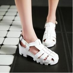 Tomma - Platform T-Bar Sandals